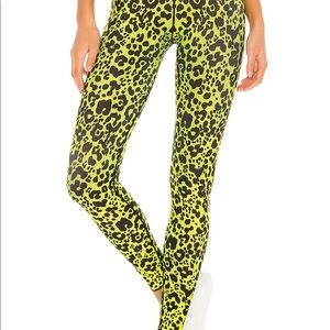 NWT Cor By Ultracor Lime Leopard Leggings